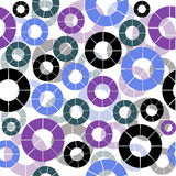 Retro background seamless with circles Royalty Free Stock Photos