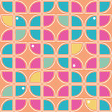 Retro background. Seamless geometric pattern inspired by the style of 60s stock illustration