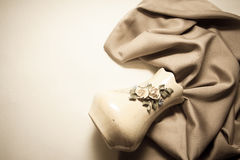 Retro background with silk drapery Royalty Free Stock Image