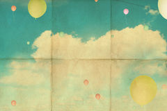Retro background with sky Royalty Free Stock Photography