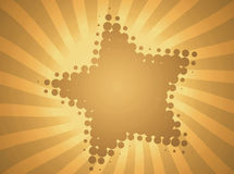 Retro background with star. This abstract retro background with star Royalty Free Stock Photos