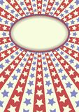 Background. Retro background with stars and banner Royalty Free Stock Images