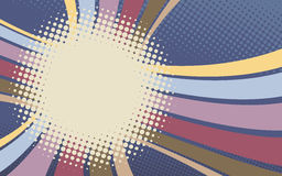 Retro background with stripes and dots Royalty Free Stock Photography