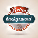 Retro background. Retro style sign with copyspaces for your text. EPS10 Stock Photo
