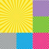 Retro  background with sunburst Royalty Free Stock Photos