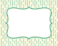 Retro Background Template. With seamless pattern design Stock Photos
