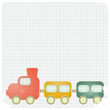 Retro background with a toy train Royalty Free Stock Images