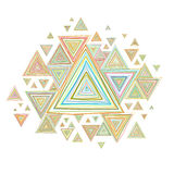 Retro background. With triangles Stock Photography