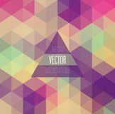 Retro background with triangles. Stock Photography