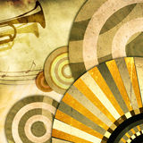 Retro background with trumpet Stock Photo