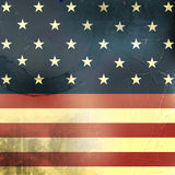 Retro background with usa flag and grunge effect Stock Photos