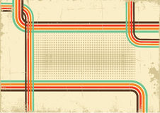 Retro background .Vector abstract poster on old pa Stock Photography