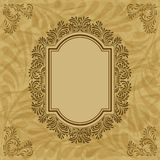 Retro background with vintage calligraphic ornate Stock Photography