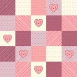 Retro background of vintage design with hearts Royalty Free Stock Photos