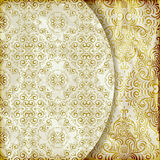 Retro background with vintage patterns Royalty Free Stock Photo