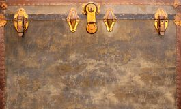 Retro background with vintage wooden chests Royalty Free Stock Images