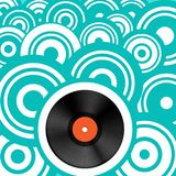 Retro Background with Vinyl Record LP. vector illustration