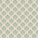 Retro background, wallpaper. Seamless overlapping patterns. Swatches are included in vector file Stock Images