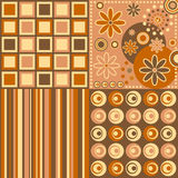 Retro Background [Warm Colors]. Four retro backgrounds in warm colors. Three different versions (pink, blue and warm colors) in my portfolio Royalty Free Stock Image