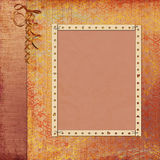 Retro Background With Decorative Frame Royalty Free Stock Images