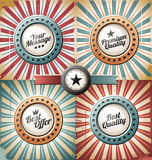 Retro backgrounds and labels royalty free illustration