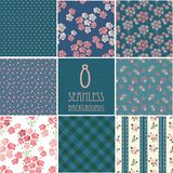 Retro backgrounds with roses Royalty Free Stock Photos