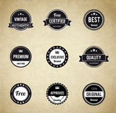 Retro badge eps 10 Premium Quality labels. Illustartion of retro badge eps 10 Premium Quality labels Royalty Free Stock Images