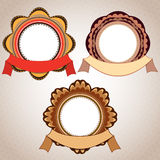 Retro Badge And Ribbon Royalty Free Stock Photo