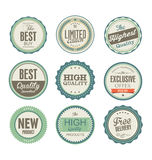 Retro badges collection Royalty Free Stock Photography