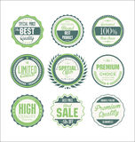 Retro badges collection Royalty Free Stock Images