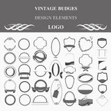 Retro badges design logo. Template Royalty Free Stock Image