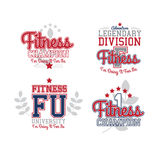 Retro Badges Fitness Royalty Free Stock Image