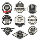 Retro badges and labels collection. Isolated on white background Royalty Free Stock Photos