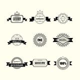 Retro badges and labels Stock Image
