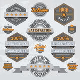 Retro badges and labels Royalty Free Stock Photography
