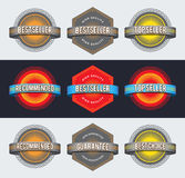 Retro badges Stock Image