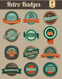 Retro badges vol 1-1. Retro badges series, suitable for your design element Stock Photography