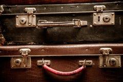 Retro bagage stock foto