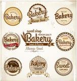 Retro bageriemblem och etiketter Royaltyfri Foto