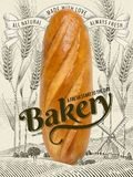 Retro Bakery ads Royalty Free Stock Photography