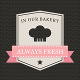 Retro bakery label with chef hat Royalty Free Stock Photos