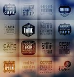 Retro bakery labels and typography Royalty Free Stock Images