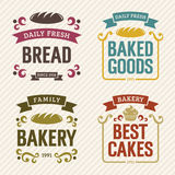 Retro Bakery Labels vector illustration