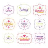 Retro bakery logo labels Royalty Free Stock Images