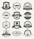 Retro bakery logos, badges and labels Stock Images