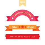 Retro bakery style label set 3 in 1 Royalty Free Stock Photography