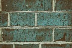 Retro bakgrund av textur för detalj för närbild för vägg för blåttbusetegelsten Royaltyfria Foton