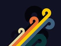 Retro bakgrund för abstrakt färg stock illustrationer