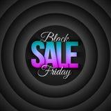 Retro bakgrund för Black Friday Sale vektor Arkivbilder