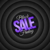 Retro bakgrund för Black Friday Sale vektor Royaltyfri Bild